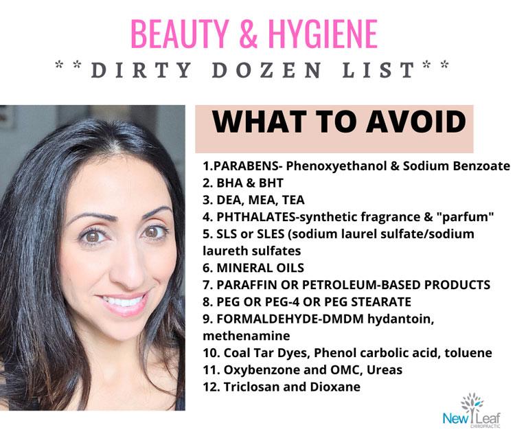 Dirty Dozen List for Beauty & Hygiene in Miami FL
